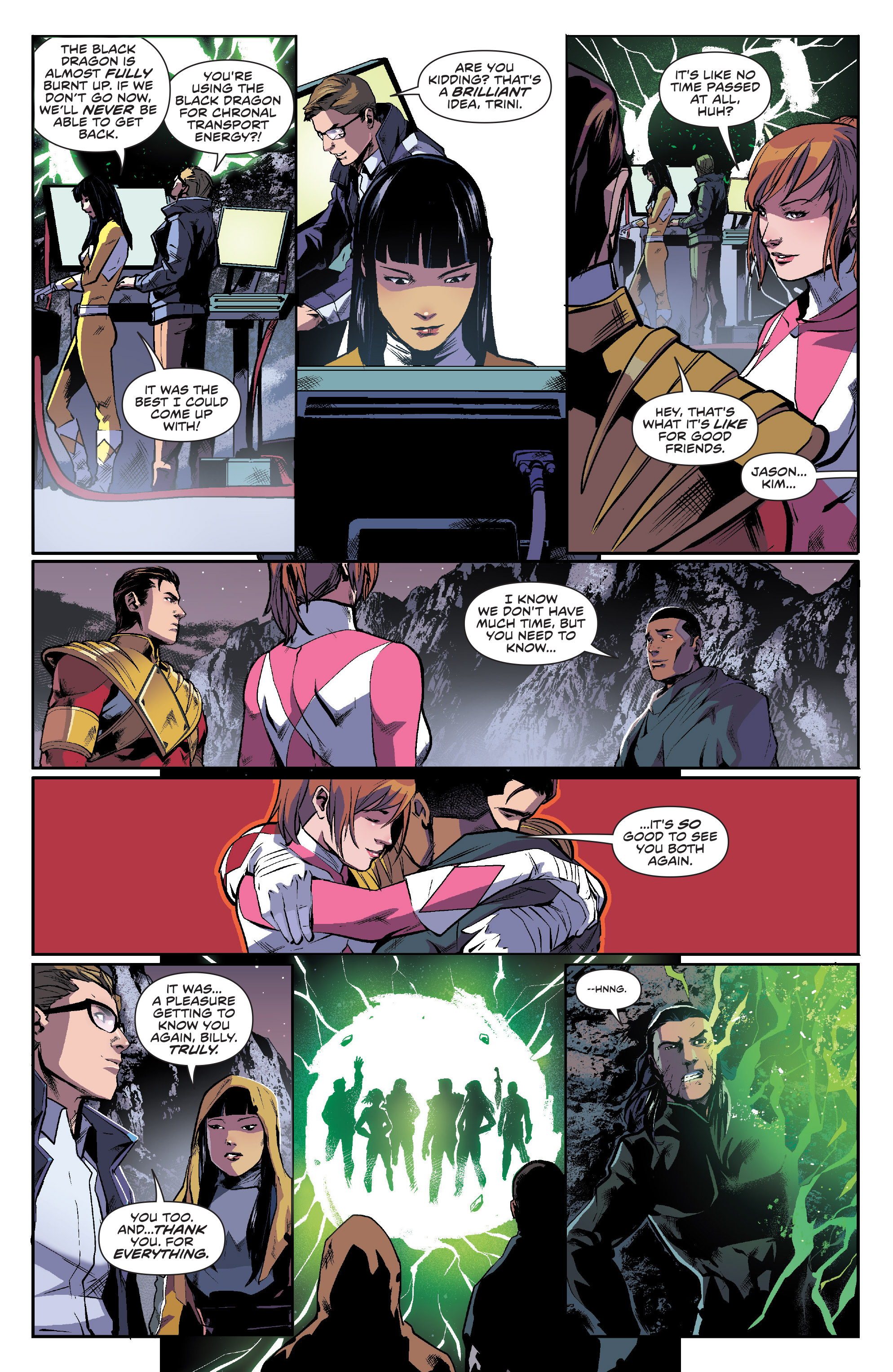 Read online Mighty Morphin Power Rangers comic -  Issue #16 - 17