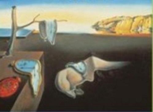 Relógios derretendo, pintados por Salvador Dali.