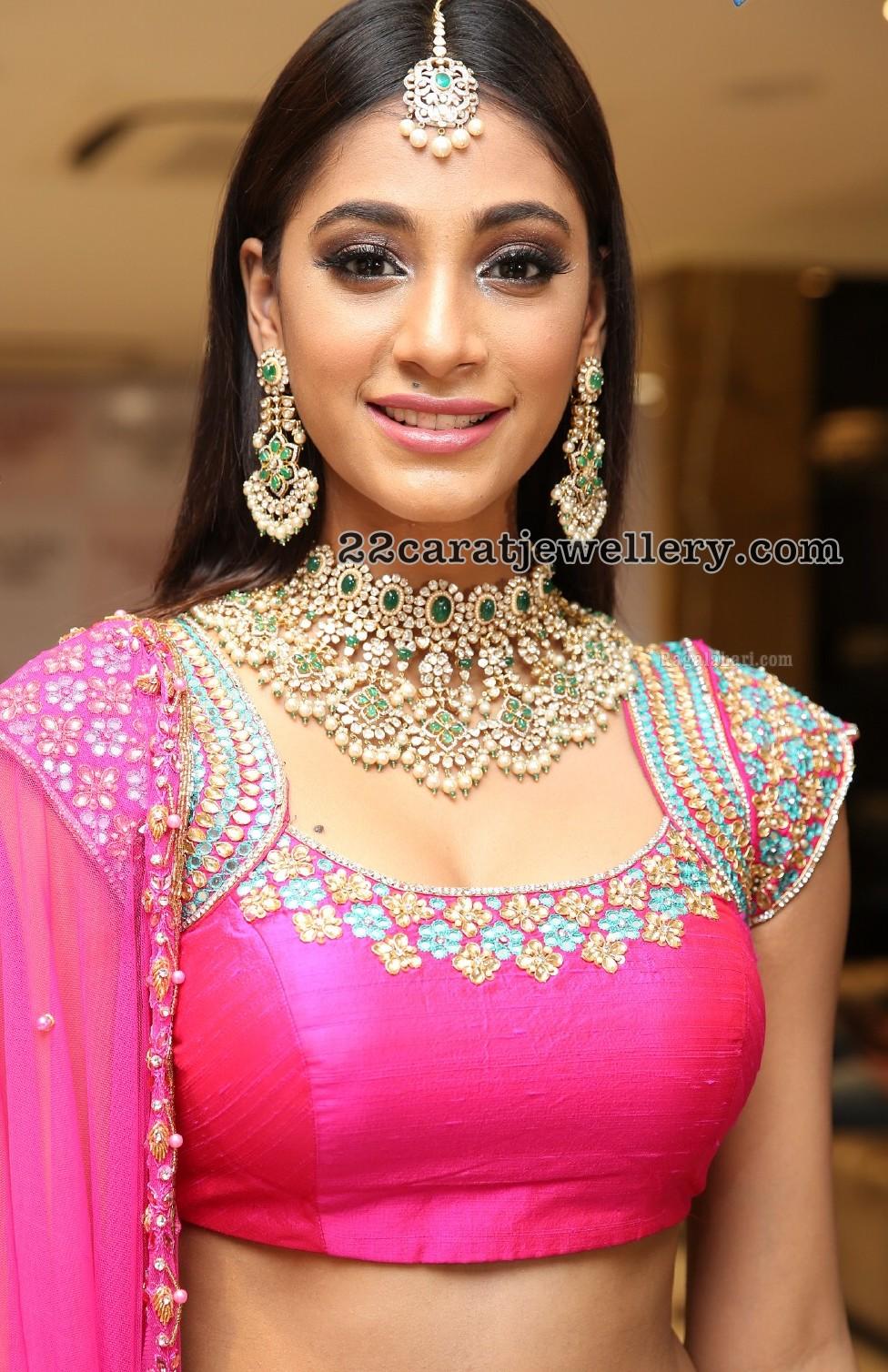 Akruthi Vyas Heavy Polki Diamond Necklace Jewellery Designs