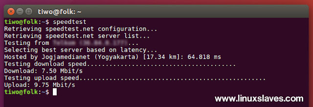 Check Internet Speed From Terminal Ubuntu Linux