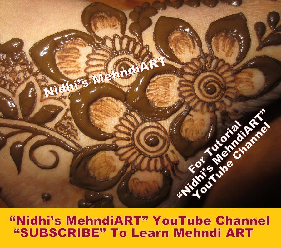 Nidhi S Mehndiart Attractive Side Feet Floral Arabic Henna Mehndi