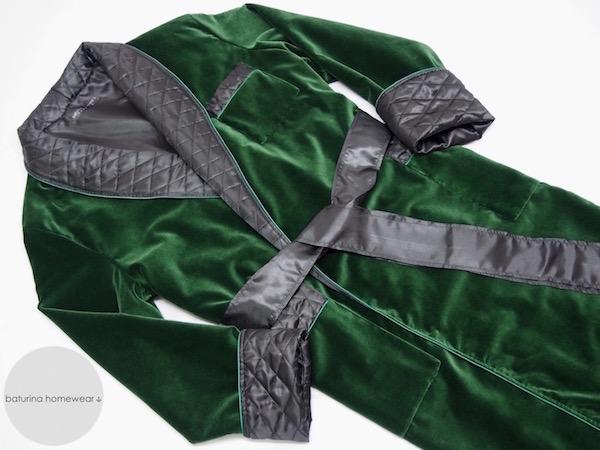 mens dressing gown cotton velvet quilted silk long warm victorian smoking jacket robe gentleman housecoat
