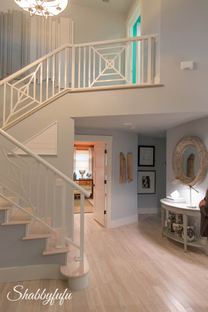 The main staircase in the HGTV Dream Home 2016.