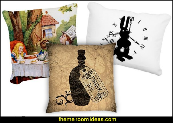 alice in wonderland throw pillows--alice in wonderland pillows-alice in wonderland bedding-maries manor theme bedrooms