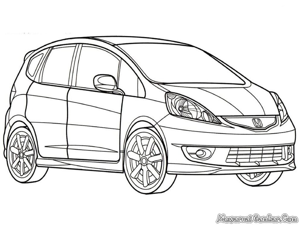 Gambar Mobil Sport Untuk Diwarnai Terbaru Sobat Modifikasi