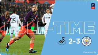 Swansea vs Manchester City 2-3 Video Gol Highlights