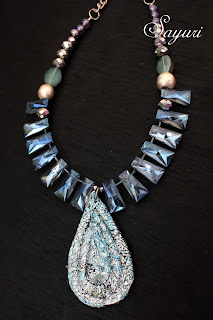 crystal artbead necklace