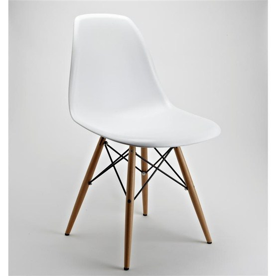 Eames style DSW chair with white seat