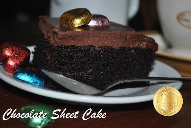 Patyskitchen Chocolate Buttermilk Sheet Cake