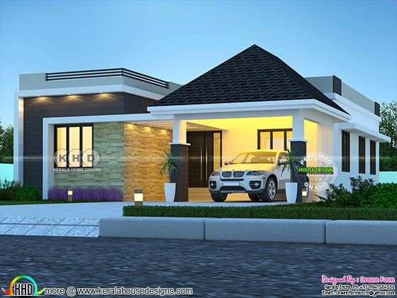 3 bedroom mixed roof beautiful house rendering