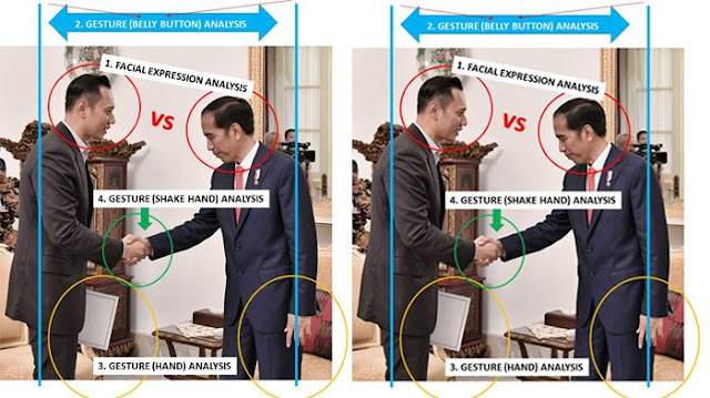 Ramai Jadi Perbincangan, Ini Analisa Gestur Presiden Jokowi dan Agus Yudhoyono Saat Berjabat Tangan