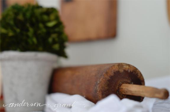 Rustic wood rolling pin