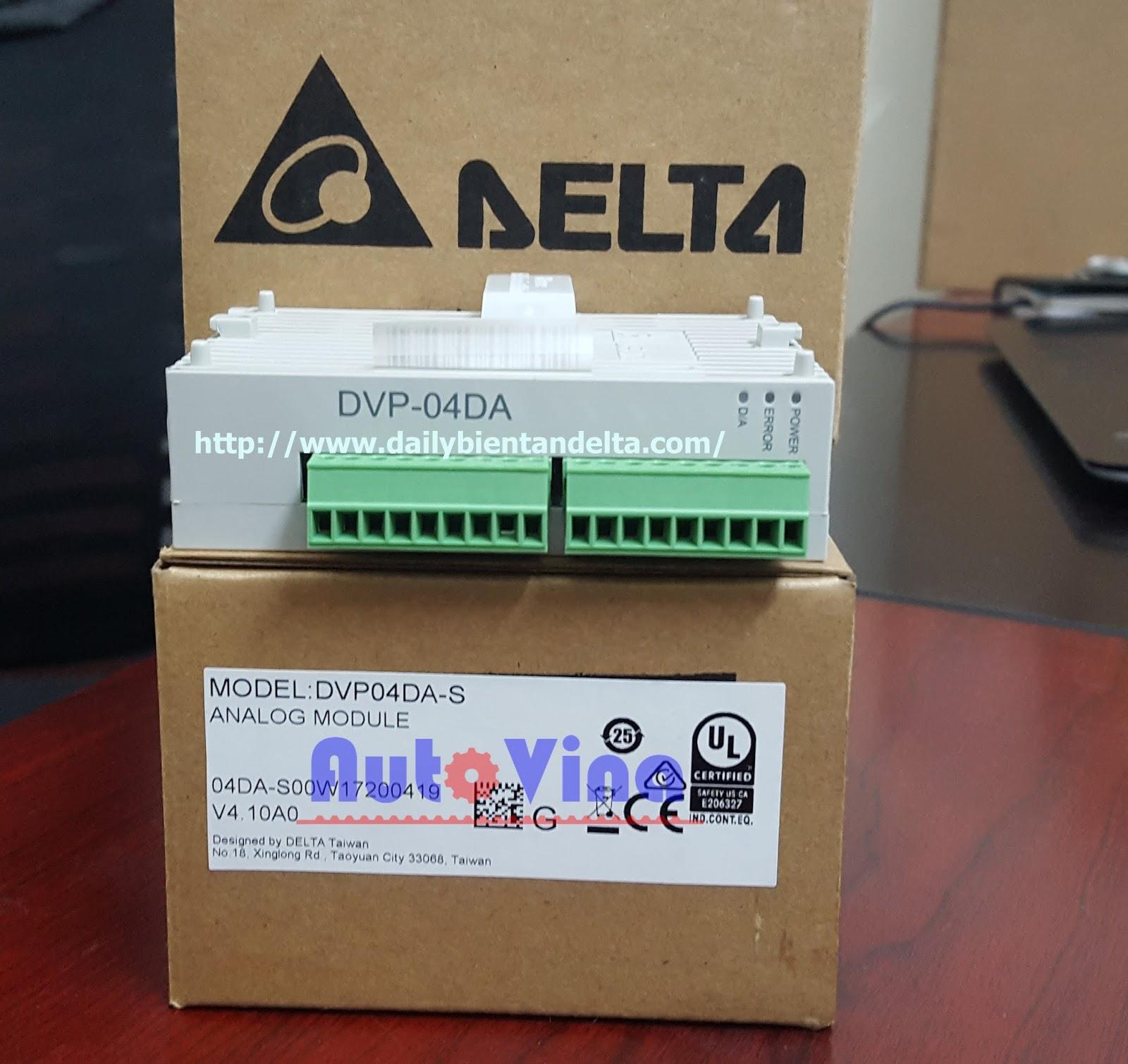 Đại lý bán module analog PLC Delta DVP04DA-S 4 ngõ ra analog