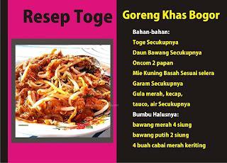 Resep Toge Goreng Khas bogor yang mudah dan benar by Ommasakom net