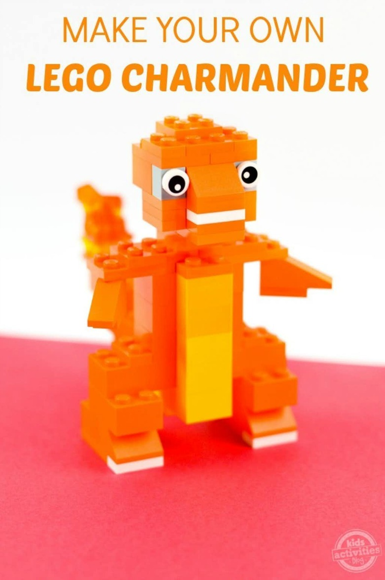 lego charmander - Pokemon crafts for kids