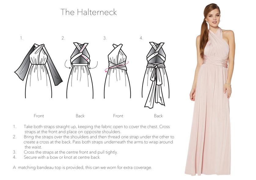 How To Tie Debenhams Bridesmaid Dress Multiway
