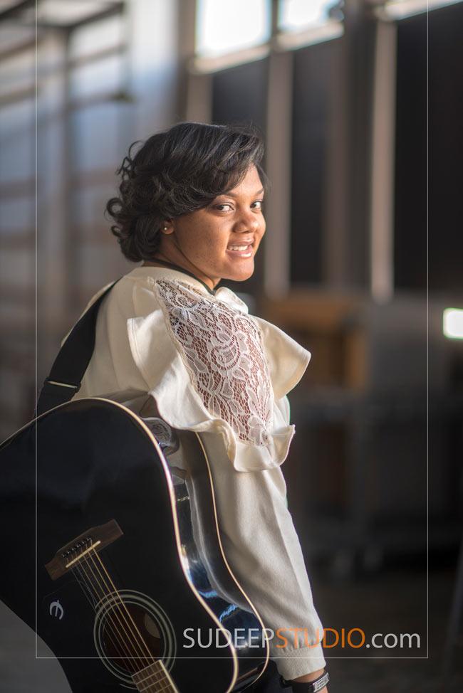 Livonia Girls Senior Portrait Ideas with Guitar Music - SudeepStudio.com Ann Arbor Senior Pictures Photographer