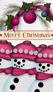 Felicitaciones para Navidad con Muñecos de Nieve.