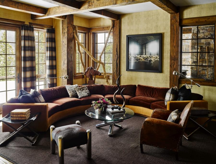 wystrój wnętrz, wnętrza, urządzanie mieszkania, dom, home decor, dekoracje, aranżacje, domek w górach, górska chata, drewno, cozy, przytulnie, kominek