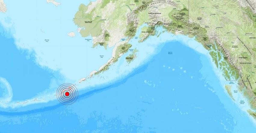 TEMBLOR EN ALASKA: Sismo de magnitud 5.4 en Estados Unidos - EE.UU. (Hoy Martes 9 Julio 2019) EPICENTRO - Nikolski - USGS