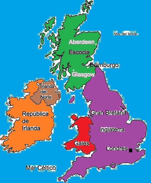 Resultado de imagen para mapa reino unido