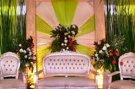 dekorasi pernikahan sederhana di rumah