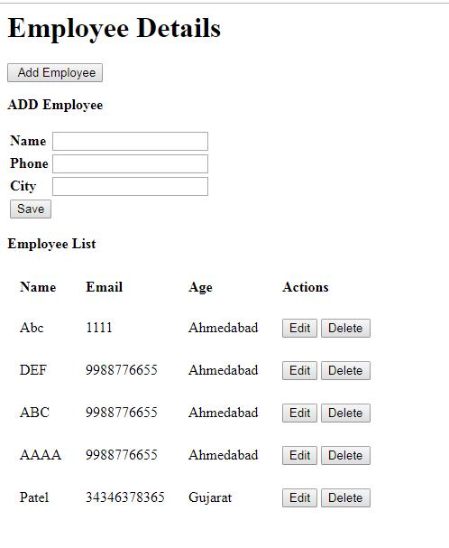 AngularJS CRUD Operation : Select Insert Edit Update And