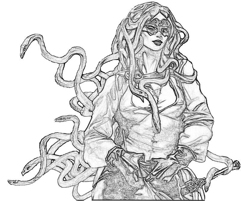 coloring pages of medusa - medusa attack lowland seed