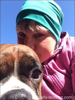 Selfietime mit Boxer Amy