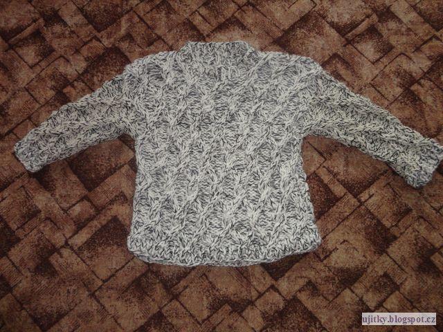 Háčkování a jiné ruční práce  Pletený svetr e4a49d09ad