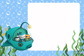 The Octonauts Free Printable Invitations, Labels or Cards.