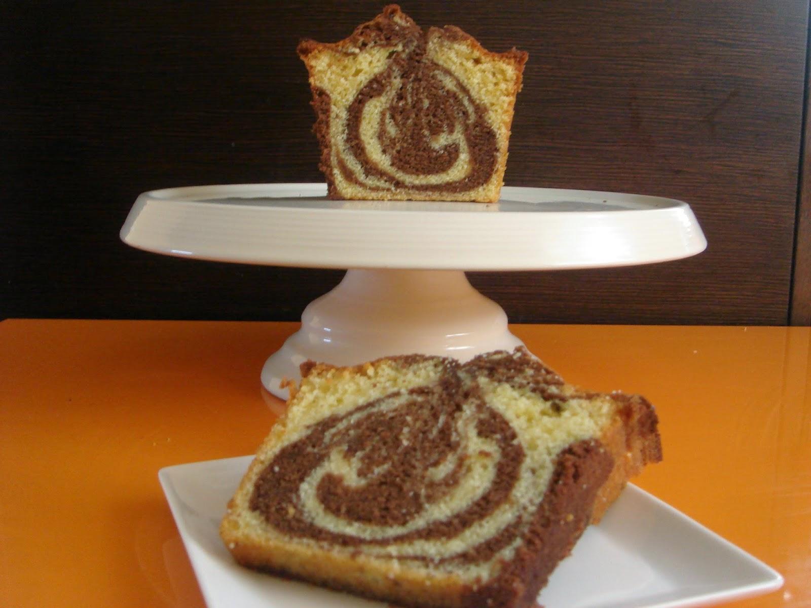 pound cake de chocolate y vainilla