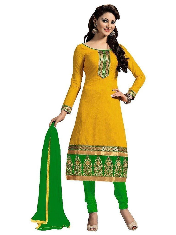 women new fancy wear chudidar suit set indian fashion