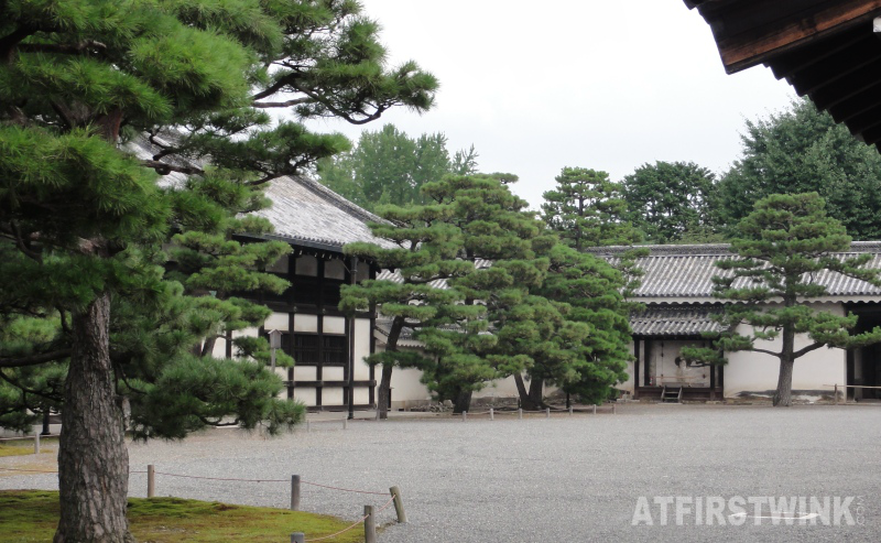 Nijo castle Kyoto Japan kitchen food preparation building