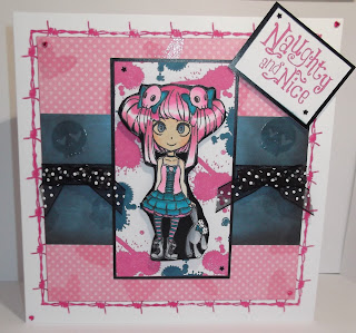 Cheremane Smith - Molly Rules Stamp Set - Visible Image Molly Stamp - Little Girl Stamp - Grunge Girl Stamp