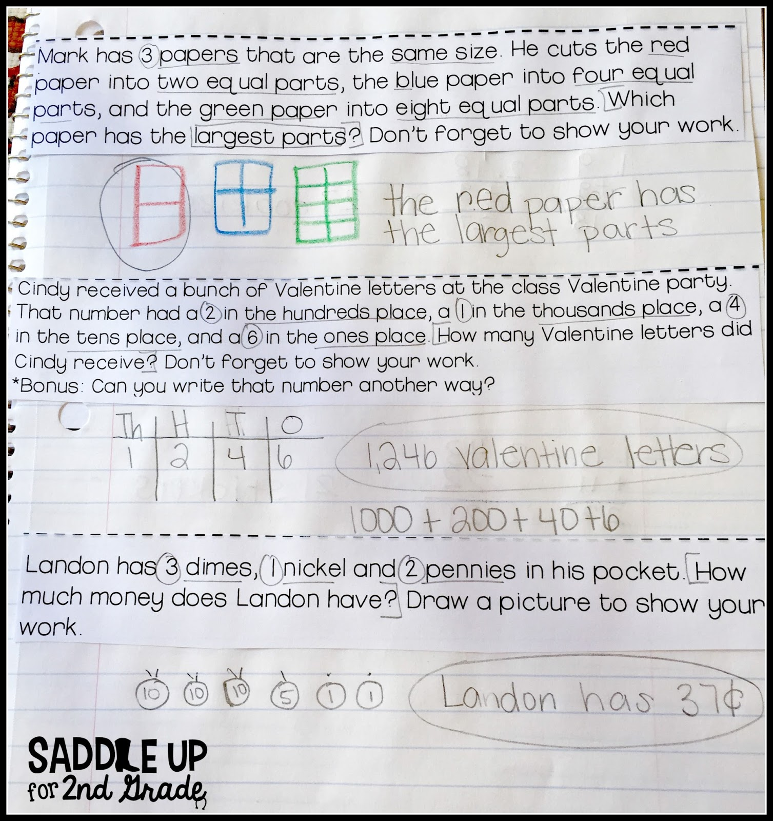 Guided Math Break Down Saddle Up For 2nd Grade