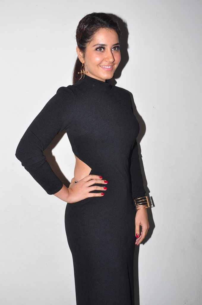 Rashi Khanna Hot Photos In Long Black Dress At Birthday Celebrations