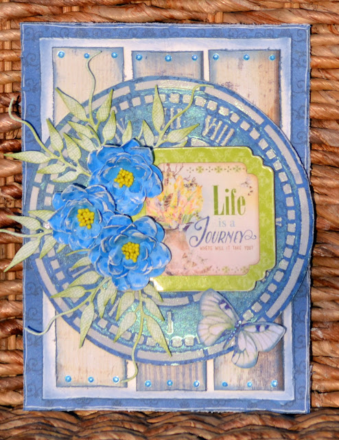 Mixed Media Cards by Denise van Deventer using BoBunny Serendipity and Stencil Paste and Pentart Wax Paste