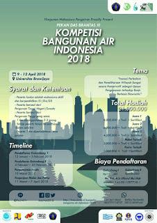 Kompetisi Bangunan Air Indonesia 2018 di Univeritas Brawijaya