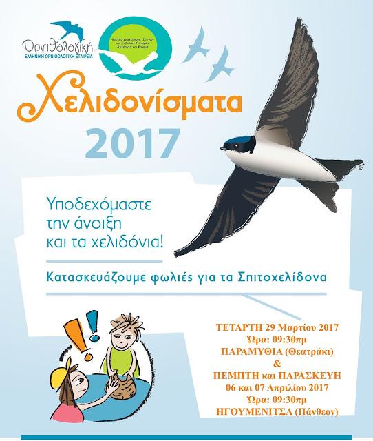 Θεσπρωτία: Εκδηλώσεις για τον ερχομό των χελιδονιών