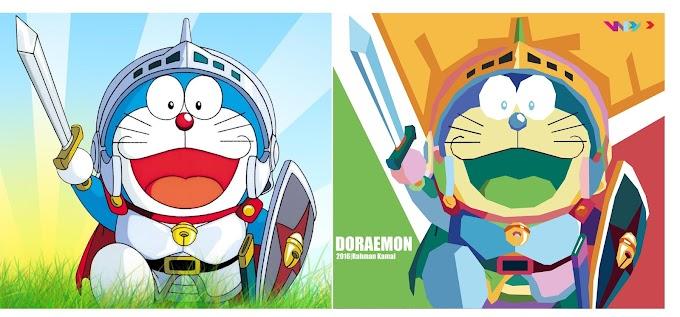 Doraemon in WPAP by Rahman Kamal