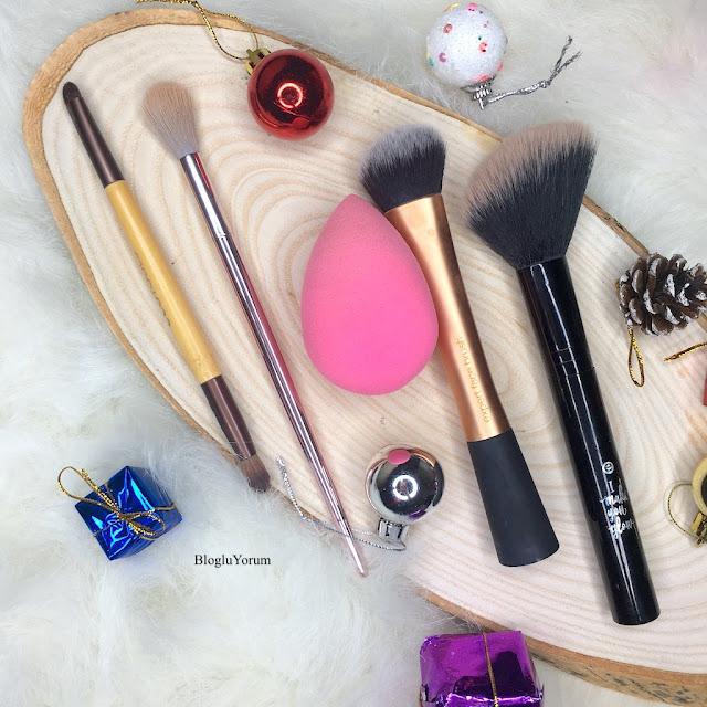 Makyajımı Anlatıyorum Beauty Blender Real Techniques Ecotools Wetn Wild Essence fırça