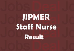JIPMER Staff Nurse Result 2018