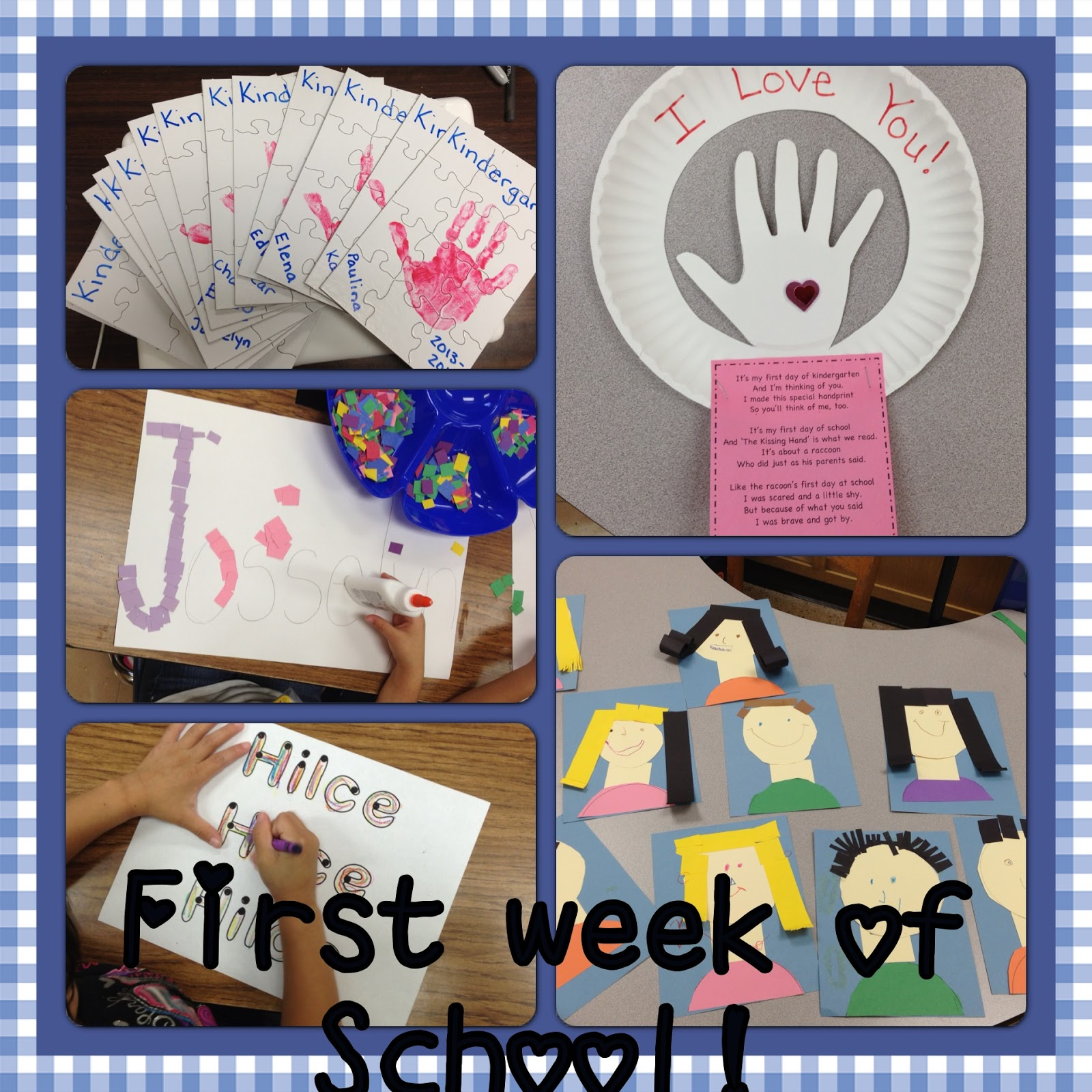 A Spoonful Of Learning First Week Of School