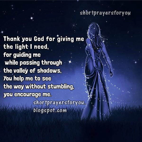 Short prayers for you, Night prayer by Mery Bracho.