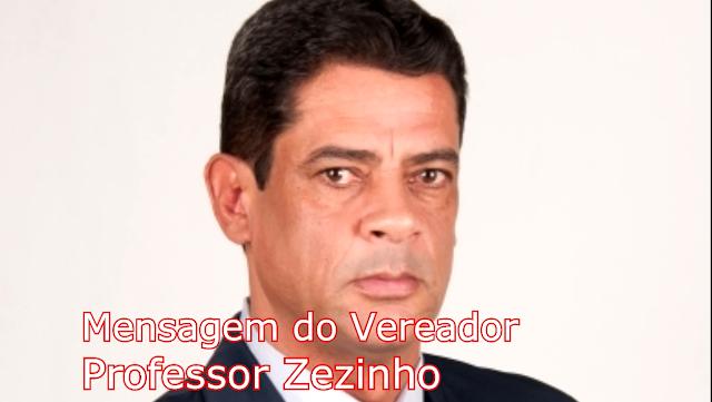 Mensagem de natal do Vereador Professor Zezinho ao povo de Borrazópolis