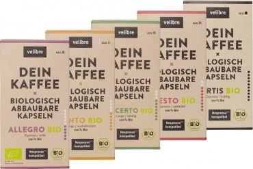Velibre Bio-Kaffee Probierset