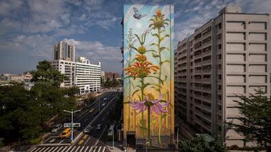 Plantas con poderes curativos en el nuevo mural de Mona Caron (Outgrowing)