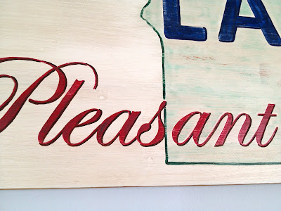 handpainted sign without vinyl cutting machine