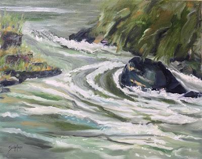 Niagara River, Niagara painting